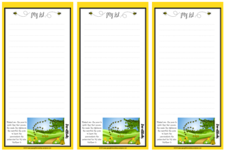 Beatitudes free printable stationery and to do list with Bible verse for kids