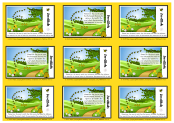 Beatitudes free printable Bible verse wallet cards with Bible verse for kids