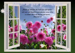 PGFE free printable Bible verse Spring poster (A4) Nehemiah 9:5