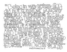 Scripture Doodle Philippians 2:6-8