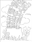 FREE Scripture Doodle colouring page for kids; Philippians 4:19