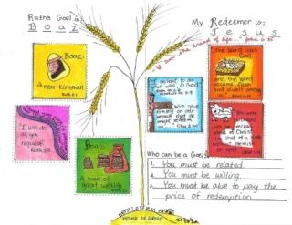 Ruth and Boaz worksheet for kids