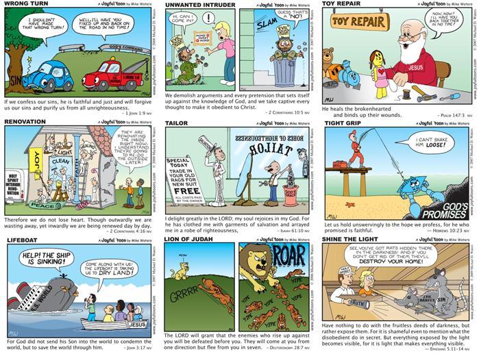 Joyful Toons - Bible cartoons