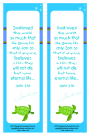 Turtle free printable bookmark for kids in bright happy colours