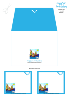 Happy Sail Boats FREE printable Bible Envelope, Envelope Liner + matching Stationery for kids A4