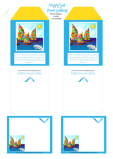 Happy Sail Boats FREE printable Bible Mini Envelopes + Mini Note Cards for kids A4