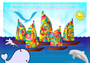 Happy Sail Boats FREE printable Bible Poster for kids A4