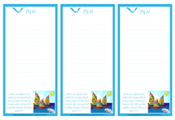 Happy Sail Boats FREE printable Bible To Do List for kids A4