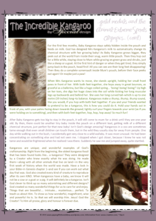 Kangaroo Free Printable Article for Kids from a Biblical perspective (page 2)