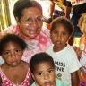 Aunty Rosa & orphans, PNG