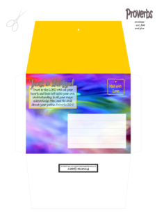 FREE Envelope with Bible verse Proverbs 3:5-6