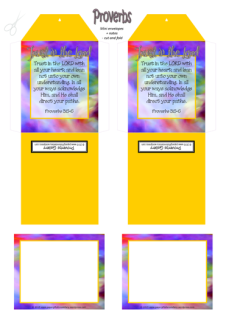 FREE Mini Note Cards with Bible verse Proverbs 3:5-6