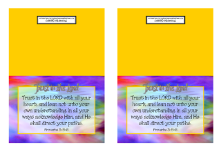 FREE Note Cards with Bible verse Proverbs 3:5-6