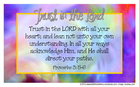 FREE Poster with Bible verse Proverbs 3:5-6