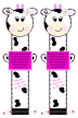 Cute Cow - Paw Print Bookmark with Bible Verse Jeremiah 27:5