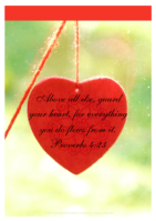 FREE Bible Poster Proverbs 4.23