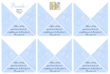 FREE Bible Bookmark Corners; Proverbs 4.23 in soft swirly blue