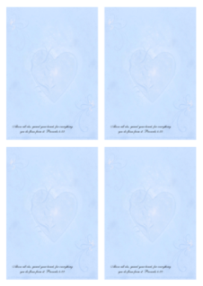 FREE Bible Notepaper; Proverbs 4.23 in soft swirly blue