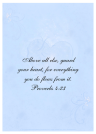 FREE Bible Poster Proverbs 4.23 in soft swirly blue