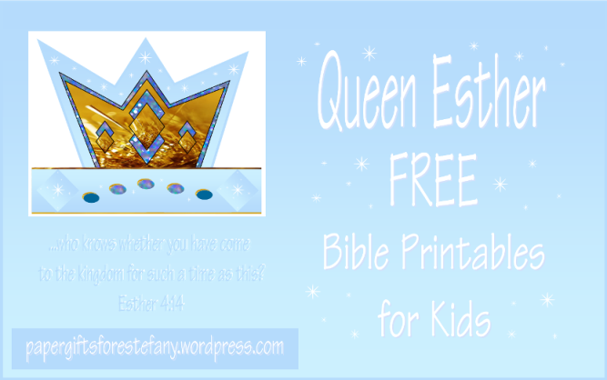 Queen Esther Bible verse free printables for kids