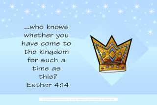 Queen Esther Bible verse card free printables for kids 4x6
