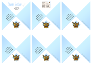 Queen Esther Bible verse bookmark corners and free printables for kids 4x6