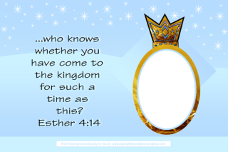 Queen Esther Bible verse photo frame free printables for kids 4x6