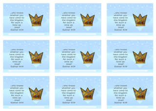 Queen Esther Bible verse wallet cards and free printables for kids 4x6
