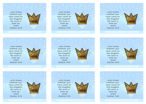 Queen Esther Bible verse wallet cards and free printables for kids A4