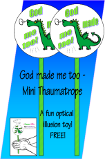 FREE Dinosaur Mini Thaumatrope for kids