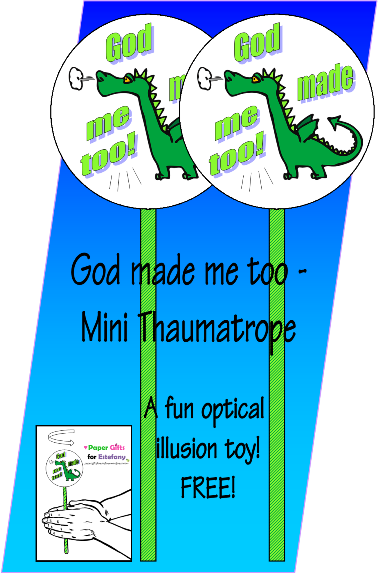 FREE Dinosaur Mini Thaumatrope for kids