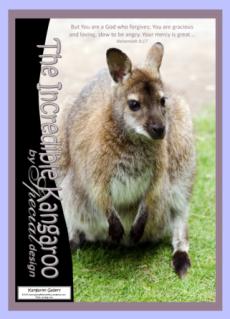 FREE Kangaroo Bible Poster with Bible verse from Nehemiah 9:17; free printable