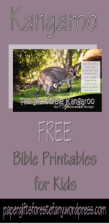 Kangaroo free printables for kids with Bible verse - stationery, poster, envelopes, note cards, wallet cards, to do list