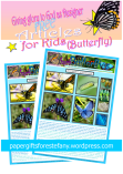 Butterfly article for kids giving glory to God as designer; free printable