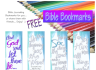 FREE Bible journal bookmarks to colour - Genesis 1; John 1; Exodus 20; Colossians 1; free printable
