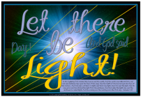 Let there be light - Creation Day 1 free printable Bible poster for kids