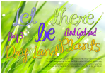 Let there be dry land, plants - Creation Day 3 free printable Bible poster for kids