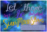 Let there be sun, moon, stars - Creation Day 4 free printable Bible poster for kids