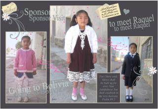 Raquel - sponsored child through Compassion International Bolivia