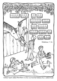 Golden Rule-Do unto others-Luke 6:31-Matthew 7:12 Bible puzzle for kids; free printable