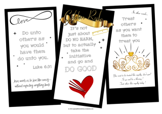 FREE Scripture doodle Bible colouring page - Golden Rule - Luke 6:31; Treat others as you want them to treat you; free printable