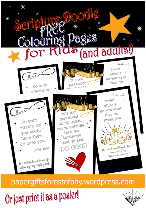 picture relating to Golden Rule Printable referred to as PGFE Doodle-Golden Rule Paper Presents for Estefany
