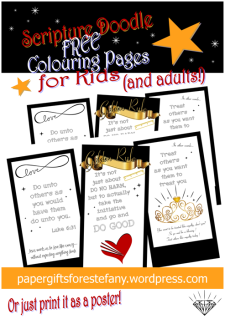FREE Scripture doodle Bible colouring page - Golden Rule - Luke 6:31; free printable