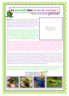 FRENCH Frog in a Sleeping Bag (water-holding burrowing frog) article for kids giving glory to God as designer; free printable