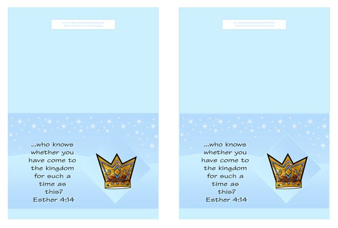 Queen Esther Bible verse note cards; free printable