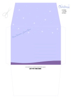 Christmas Nativity Envelope in mauve, purple and white; free printable