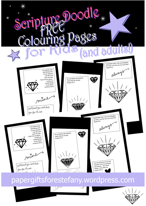 colossians 3 23 coloring page - like a diamond that i have chosen you are precious free