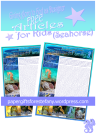 FREE seahorse article for kids giving glory to God as designer; free printable