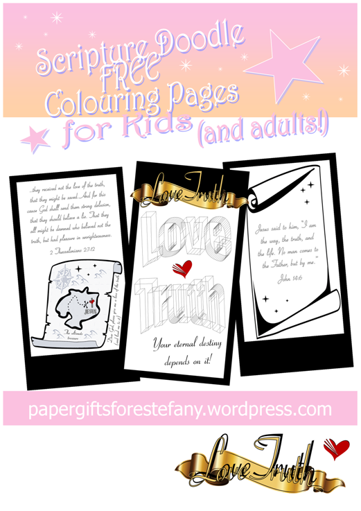 FREE Scripture Doodle Bible Colouring Page