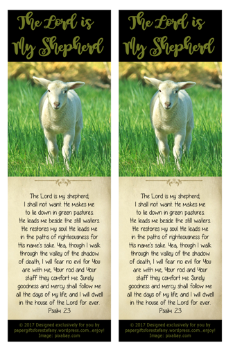 image about Printable 23rd Psalm called Psalm 23 ~ Freebies Paper Presents for Estefany